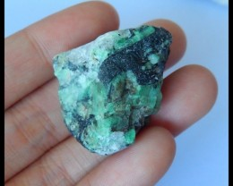 Natural Nugget Emerald Green Heat Treatment Spicemen ,33x26x20mm,93.5ct(170