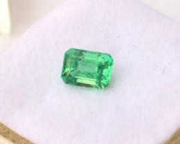 1.15 Carat Octagon Cut Nice Minty Green Emerald
