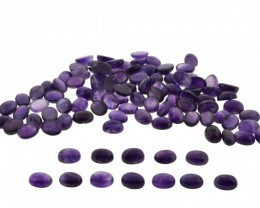 Amethyst 2100 cts 225st 16x12mm Oval Cabochon