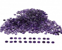 Amethyst 2100 cts 1450 stones, 8x6mm Oval Cabochon