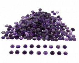 Amethyst 300 cts 95 st Cabochon/Cab 9mm Round Wholesale Lot