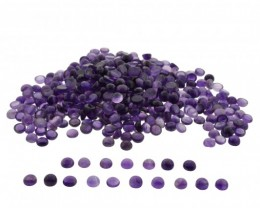 Amethyst 3300 cts 1550 stones 8mm Round Cabochon