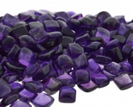 Amethyst 210 cts 138 st Cabochon/Cab 6mm Square