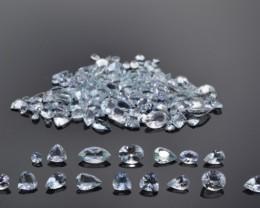 AQUAMARINE 38 cts 71 stones