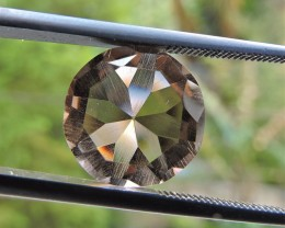 5.70ct VVS FACETED BRAZILIAN SMOKEY QUARTZ GEMSTONE CUT IN THE U.S MJ116