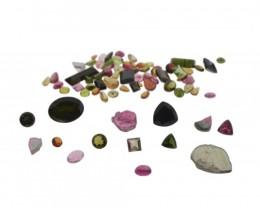 56.01 cts 80 Stones Tourmaline Parcel - $1 No Reserve Auction