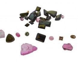 55.22 cts 35 Stones Tourmaline Parcel