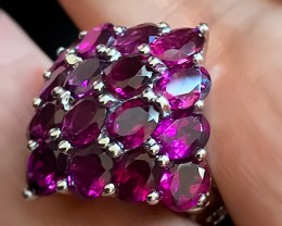 42.00ct Wonderful Raspberry Umbalite Garnet Ring Size 7.5 NR