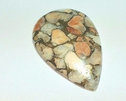 40mm 43.5ct mojave calcite drop shape cabochon