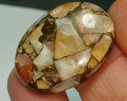 28ct 29mm mojave calcite oval cabochon