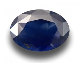 1.9 CTS | Natural Deep Royal Blue Sapphire |Certified | Oval | Sri Lanka -