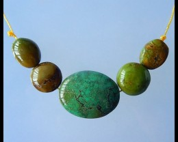 Natural Turquoise Loose Beads,25x19x9mm,13x11x8mm,69.5ct(17032402)