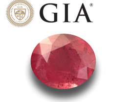 GIA Certified Unheated Ruby from Madagascar