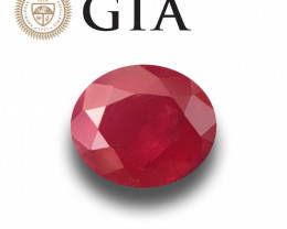 GIA Certified Unheated Ruby - Mozambique Loose Gemstone