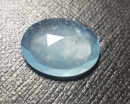 18.5mm 8.3ct Aquamarine rose cut oval gemstone