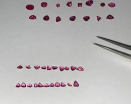 Ruby Burma 7.66 Carats - 36pcs. Mix lot