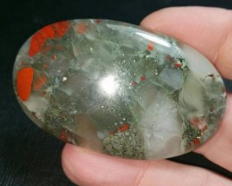 57mm Bloodstone with pyrite can be called seftonite also