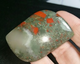 52mm Bloodstone with pyrite can be called seftonite 134ct