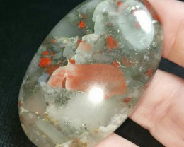 51mm Bloodstone with pyrite can be called seftonite also 51 by 35 by 6.5 11