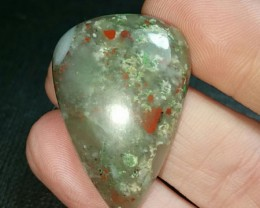 37mm Bloodstone with pyrite can be called seftonite also 37 by 24 by 6.5mm