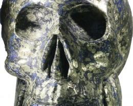 7940.00 Large Pyrite and lapis lazuli skulls PPP 1122