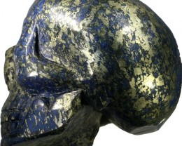 6725.00 Large Pyrite and lapis lazuli skulls PPP 1121
