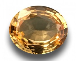0-91-CTS-Natural-yellow-sapphire-Loose-Gemstone-New-Certified-Sri-Lanka
