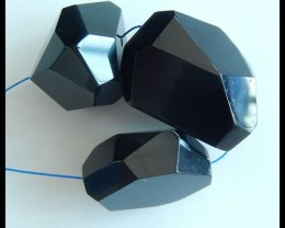 Natural Rainbow Obsidian Faceted Necklace Beads,29x23x15mm,34x24x24mm,279ct