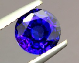 1.16ct Natural Africa Royal Blue Sapphire Round Diffusion HEATED