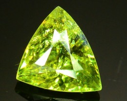 GiL Certified 0.91 ct Natural Demantoid Garnet w Horsetail Inclusion