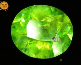GiL Certified 1.07 ct Natural Demantoid Garnet w Horsetail Inclusion
