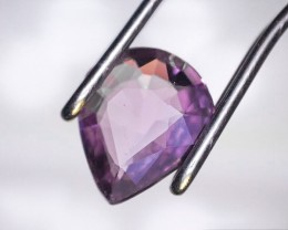 0.47 Carat Pear Cut Pinkish Purple Sapphire