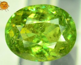 GiL Certified 2.08 ct Natural Demantoid Garnet w Horsetail Inclusion
