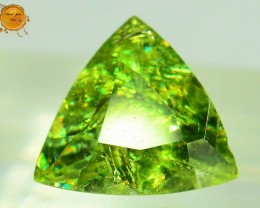 GiL Certified 1.06 ct Natural Demantoid Garnet w Horsetail Inclusion