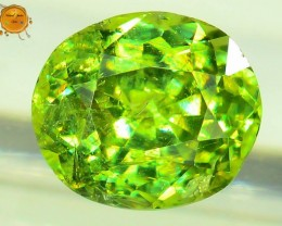GiL Certified 1.02 ct Natural Demantoid Garnet w Horsetail Inclusion