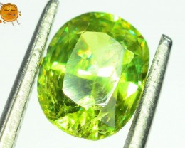 GiL Certified 1.17 ct Natural Demantoid Garnet w Horsetail Inclusion