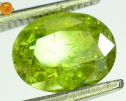 GiL Certified 1.71 ct Natural Demantoid Garnet w Horsetail Inclusion