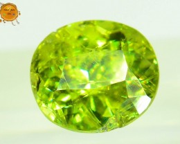GiL Certified 1.11 ct Natural Demantoid Garnet w Horsetail Inclusion
