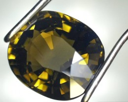 2.08 Carat Oval Cut Yellowish Green Tourmaline