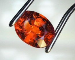 1.09 Carat Oval Cut Mandarin Orange Spessartite Garnet