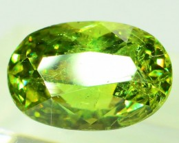 GiL Certified 1.94 ct Natural Demantoid Garnet w Horsetail Inclusion