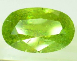 GiL Certified 3.50 ct Natural Demantoid Garnet w Horsetail Inclusion