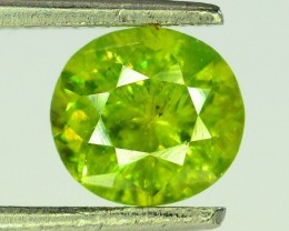 GiL Certified 1.26 ct Natural Demantoid Garnet w Horsetail Inclusion