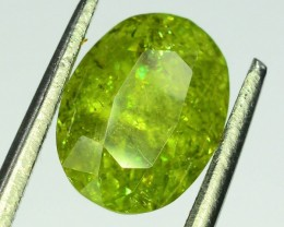 GiL Certified 2.31 ct Natural Demantoid Garnet w Horsetail Inclusion