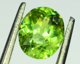 GiL Certified 1.12 ct Natural Demantoid Garnet w Horsetail Inclusion