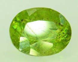 GiL Certified 1.73 ct Natural Demantoid Garnet w Horsetail Inclusion
