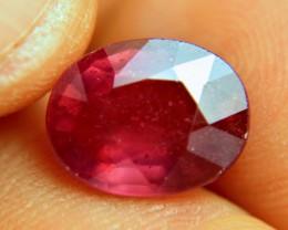 7.58 Carat Fiery Cherry Ruby - Gorgeous