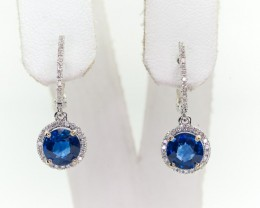 2.95tcw High End Sapphire Earrings
