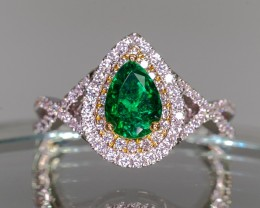 .91ct Colombian Emerald Ring