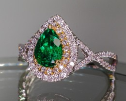 .91ct Emerald and Diamond Ring